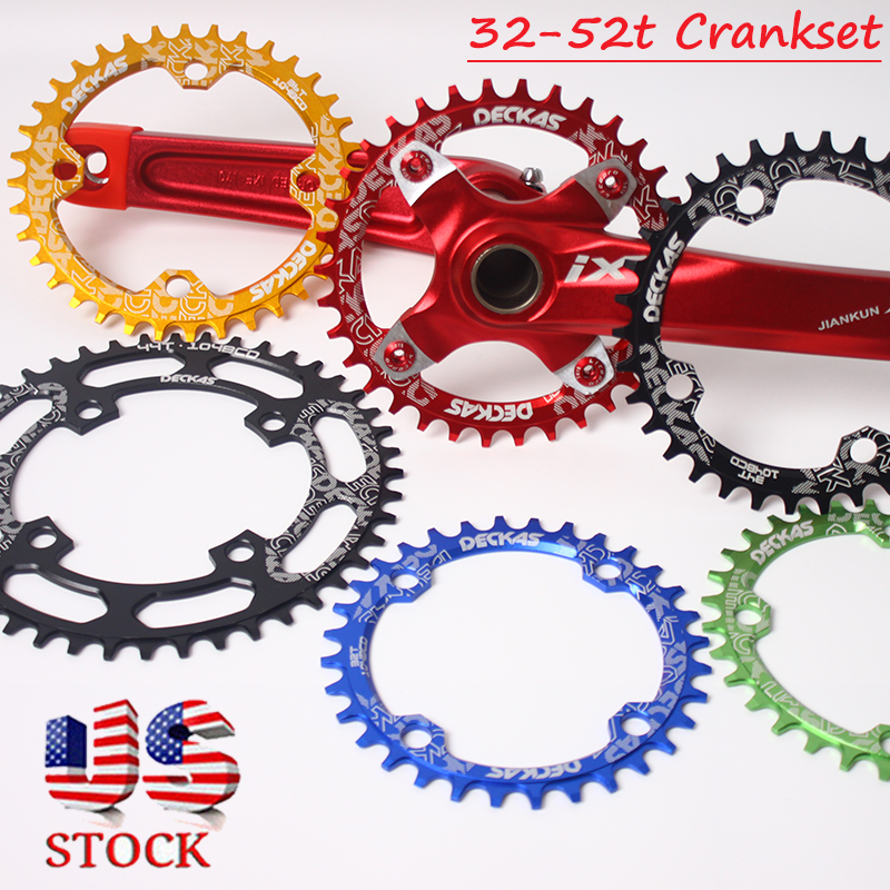 32-52T 104bcd Narrow Wide Chainwheel MTB Road Bike Round Oval Chainring Chainset