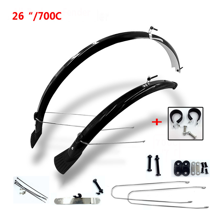 MTB Front Rear Mudguards Fender For 700C Road Bike Wide Wheel Mountain Bicycle