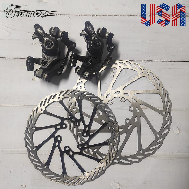 Mechanical Disc Brake Bike Cycling Bicycle Front Rear Caliper Rotors HI
