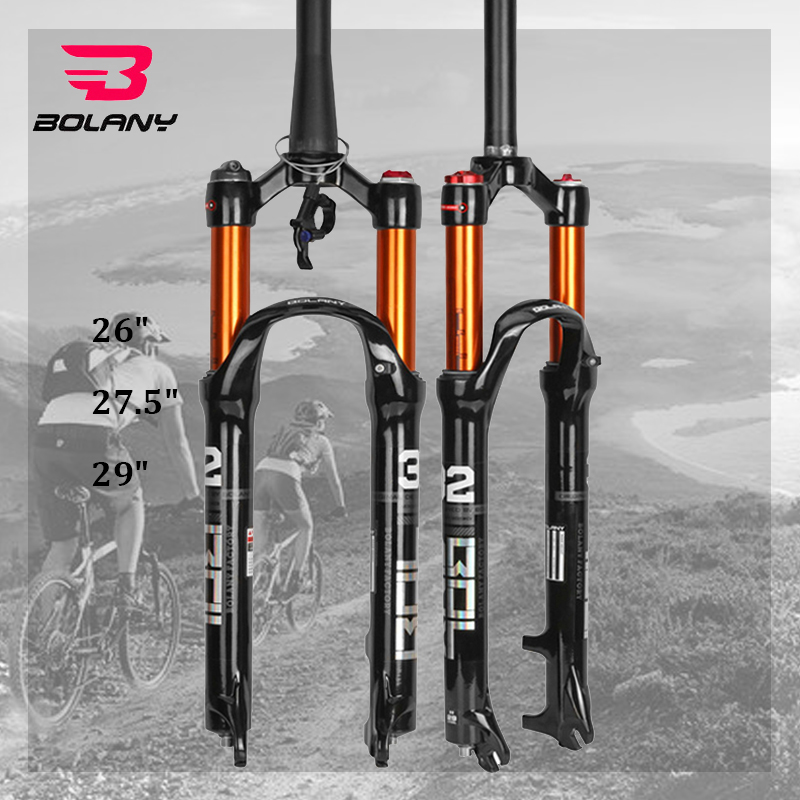 "BOLANY 26//27.5//29/"" Suspension Fork Air Shock 100mm MTB Bike Straight Tube Fork"