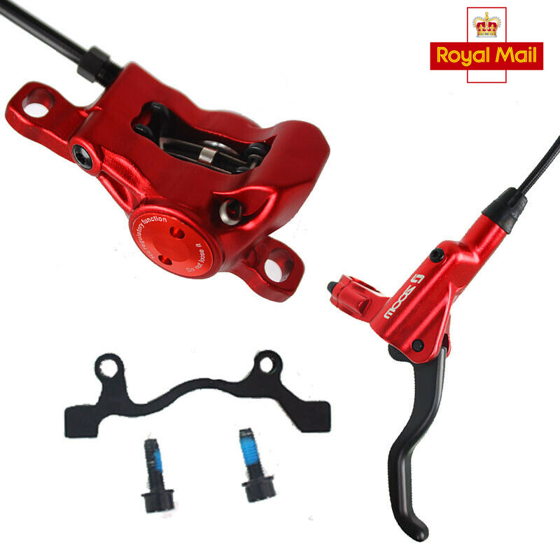 Red HB-875 MTB Mountain Bike Road Bicycle Hydraulic Disc Brakes Front Rear Rotor