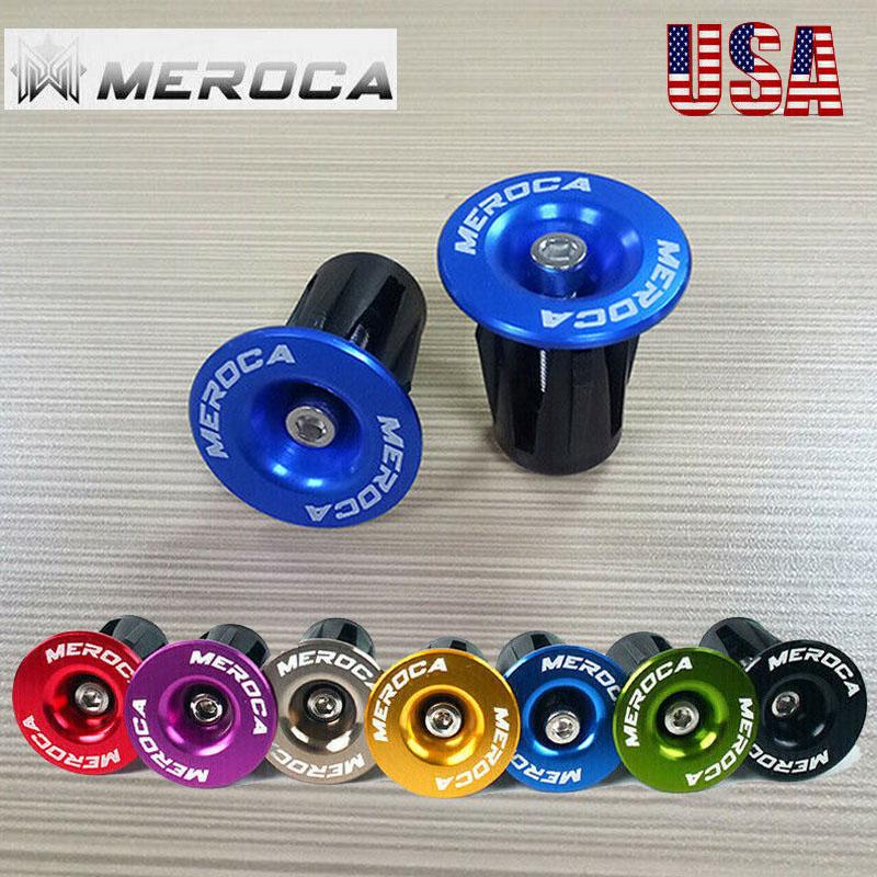 Bicycle Bike Handlebar End Plug Aluminum Alloy Application 22~24mm