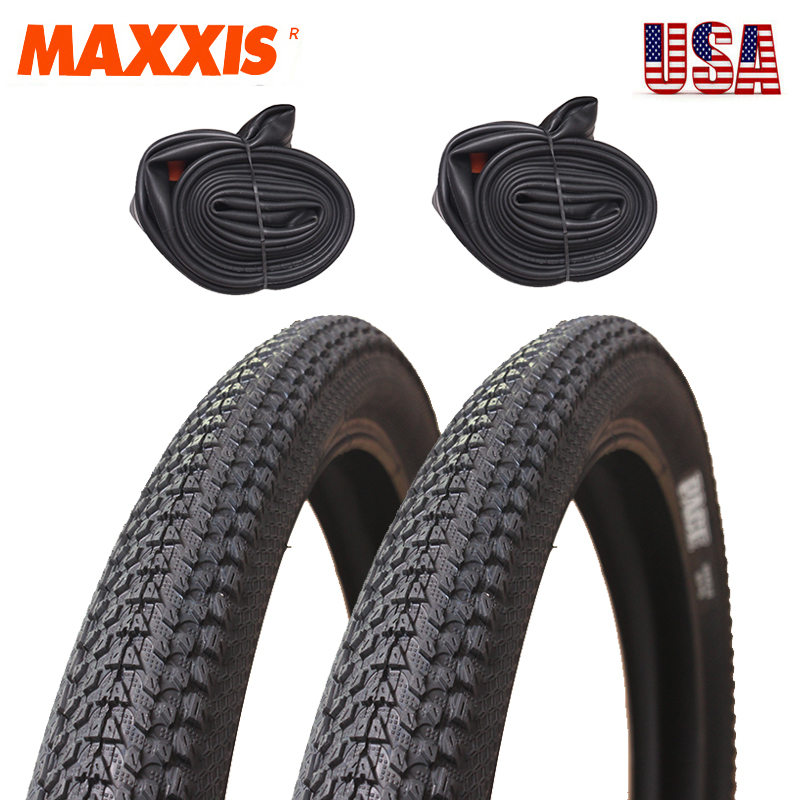 """1Pair MAXXIS PACE M333 26//27.5//29/"""" 60TPI Tires//Inner Tube Schrader MTB Bike Tyre"""