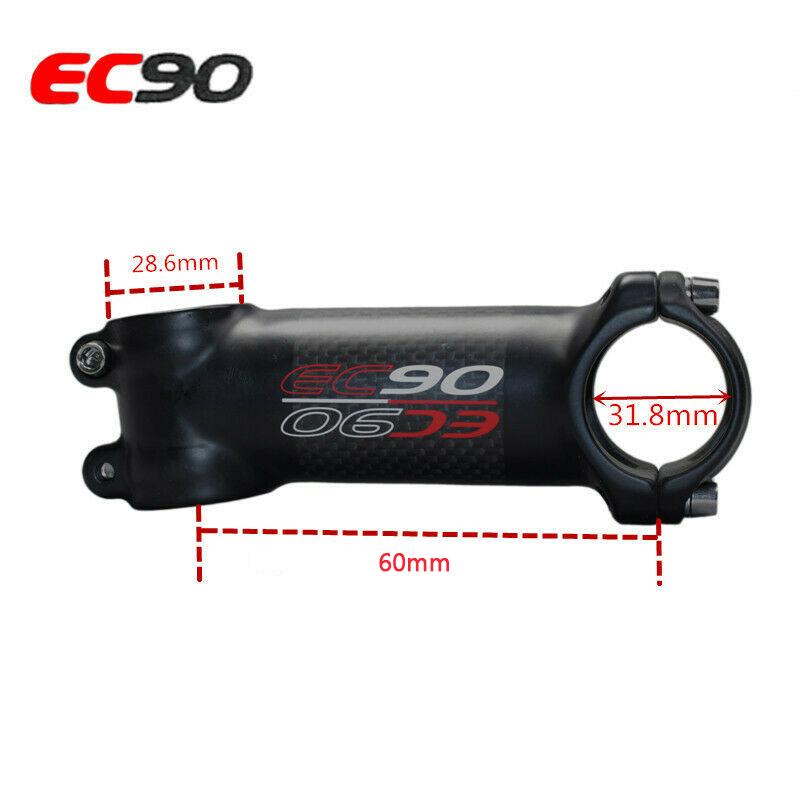 EC90 31.8mm Handlebar 6°90mm Bar Stem Carbon Fiber MTB Bike Riser//Flat Bar 1PC