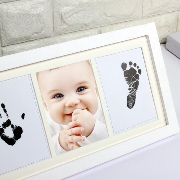 Baby Handabdruck und Fußabdruck Bilderrahmen Set Säugling Fußabdruck ...