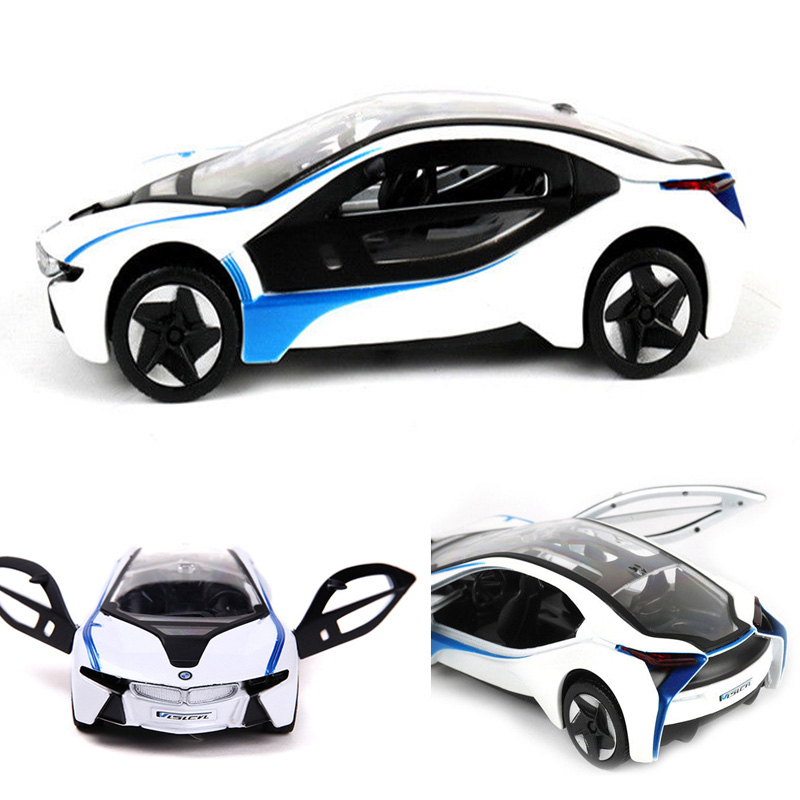 Bmw I8 White 1 32 Diecast Model Car For Kids Xmas Gift Decor
