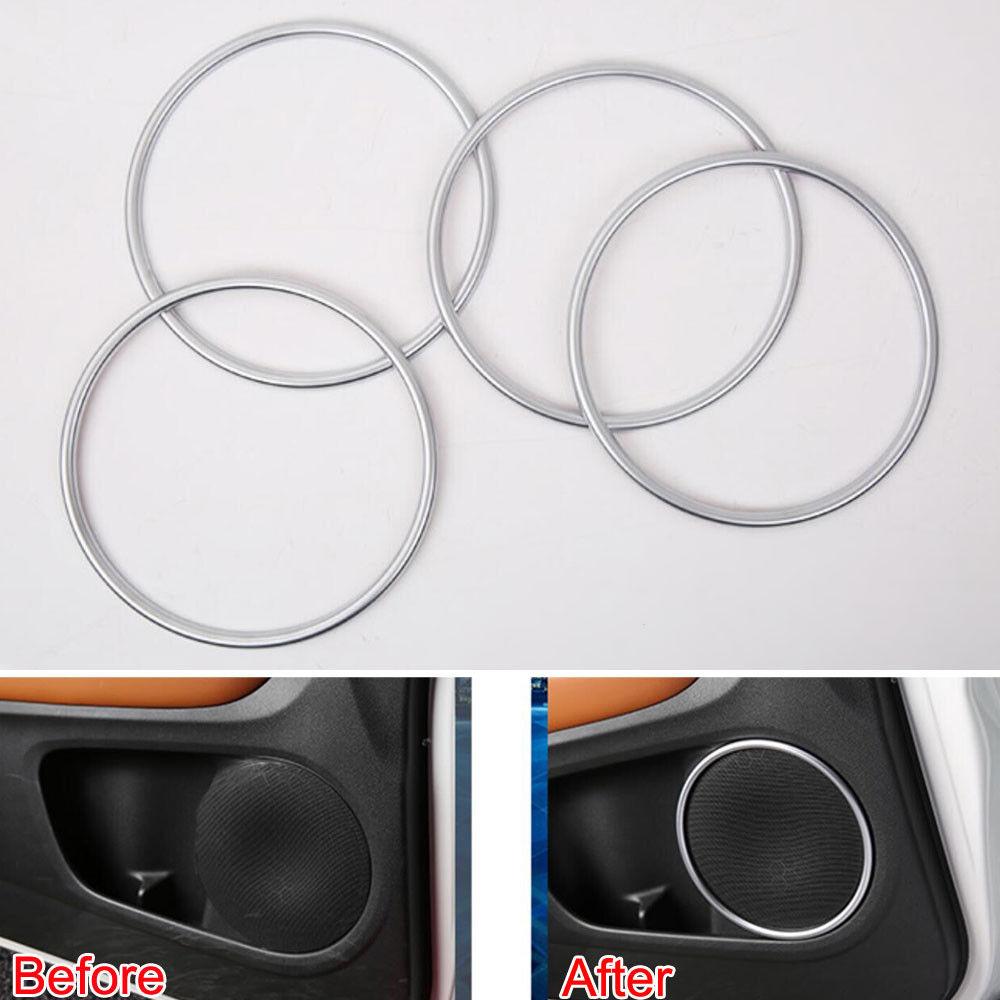 For Honda CRV 17 ABS Chrome Matte Car Front Rear Door Stereo Speaker Cover Trim