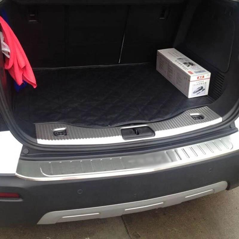 Inside Rear Bumper Protector Sill Cover Trim For Chevrolet Trax Tracker 2013-14