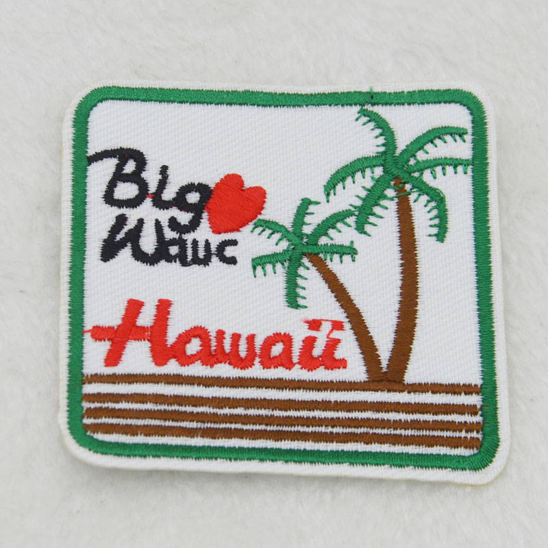 London Hawaii Embroidery Iron On Patch Sewn For Clothing Applique