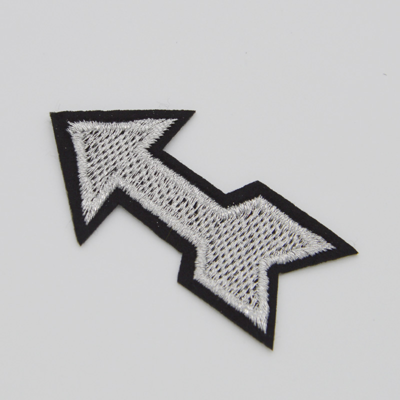 Arrow Signs Embroidered Iron Sew On Patch Clothes Applique Badge Bag