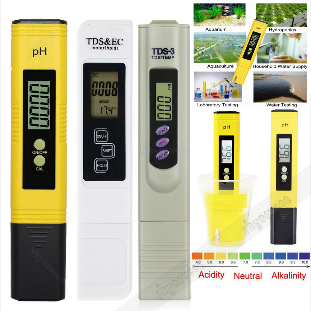 Details about Digital Electric PH/TDS-EC/TDS-3 Conductivity Meter  Hydroponics Water Tester Pen