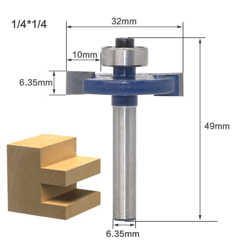 """Hot~1//4/""""Shank 3//4/""""Radius Round Over Router Bit Woodworking Milling Cutter Tool"""