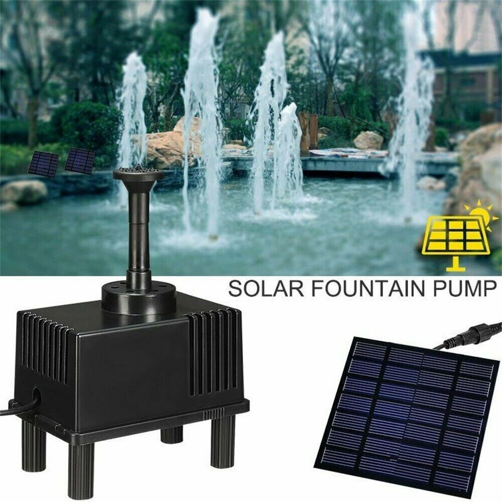 Submersible Solar Power Water Pump Panel Kit Fountain Pool Garden Pond Fishing