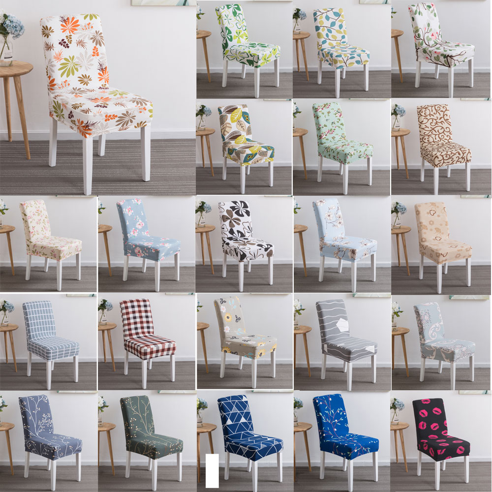 Details about Stretch Chair Cover For Kitchen Dining Bar Hotel Slipcover  Decoration Seat Cover