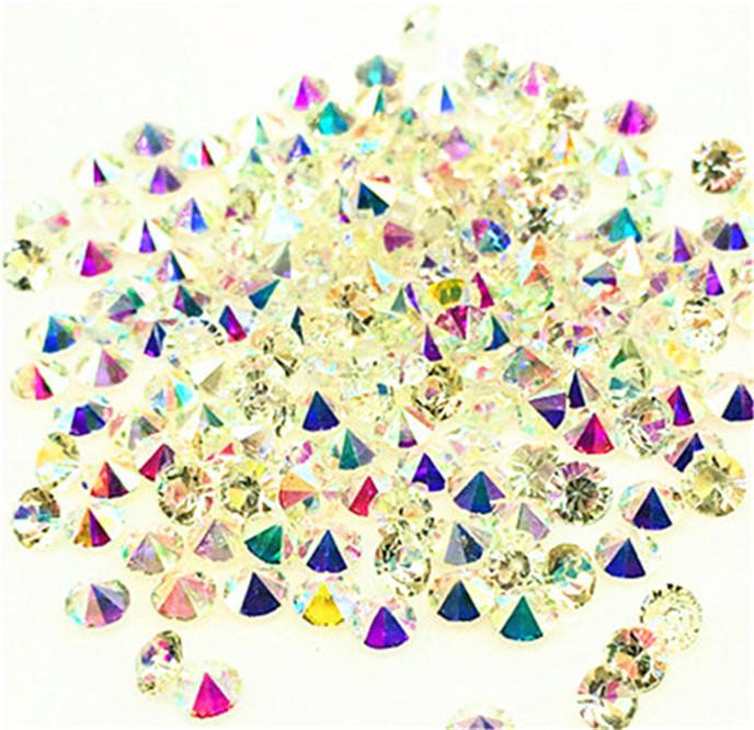 200Pcs Lot AB Birthstone Crystal Floating Charm for Glass Living Memory Locket !