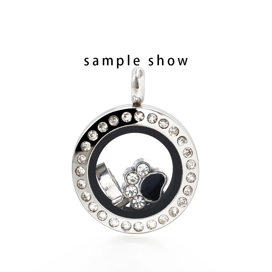 STL Glass 25mm Locket Bracelet Floating Charms
