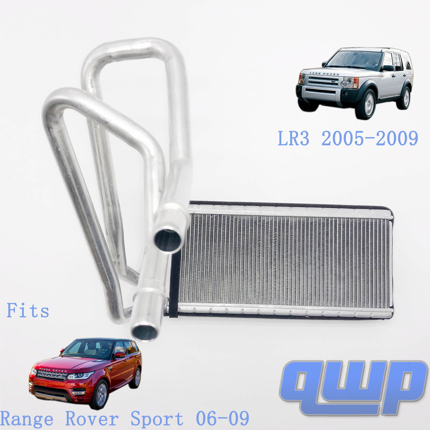 Land Rover LR017030 Heater Core With Pipes for LR3 and Range Rover Sport