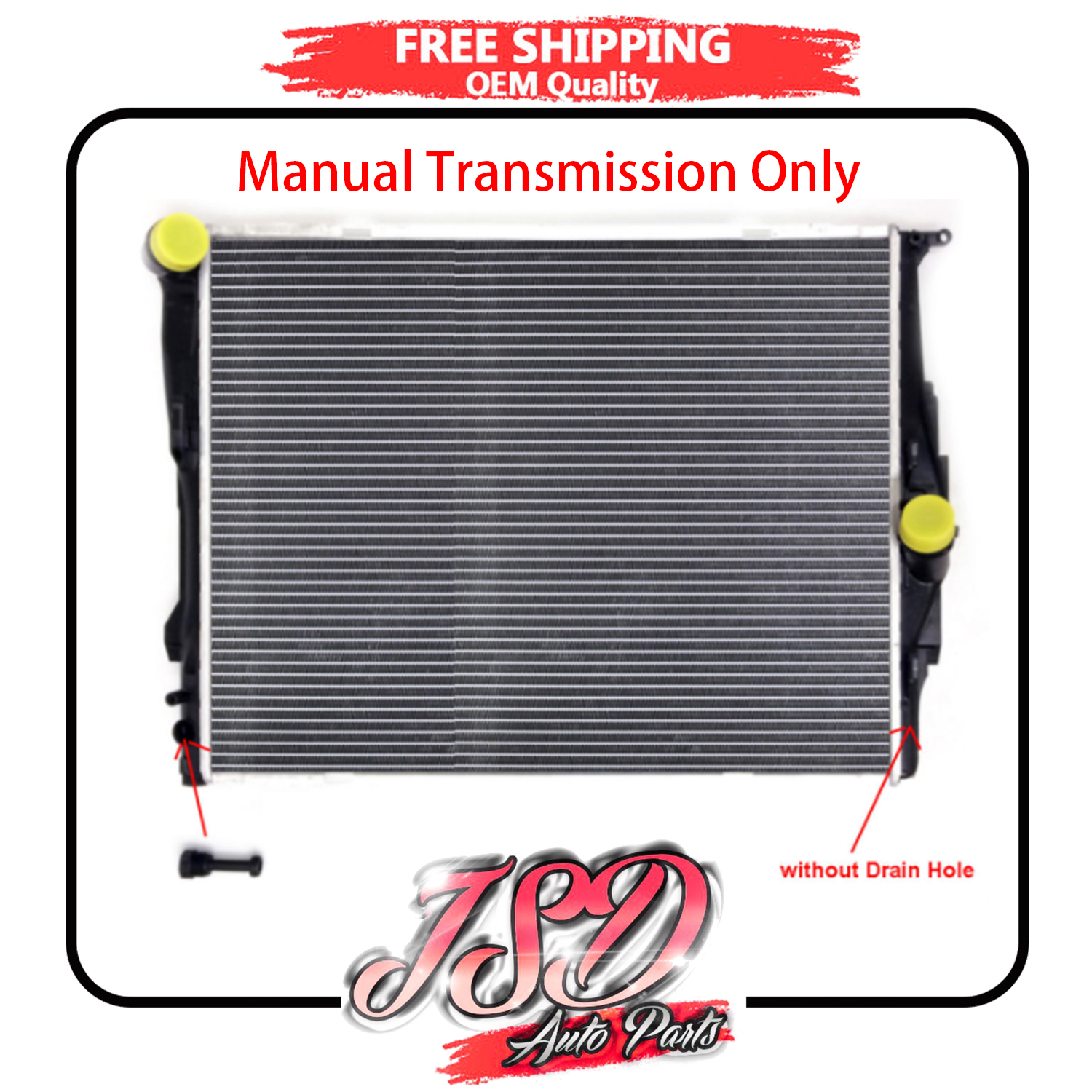 RADIATOR FIT 2001-2006 BMW X5 3.0 L6 For MANUAL TRANSMISSION ONLY