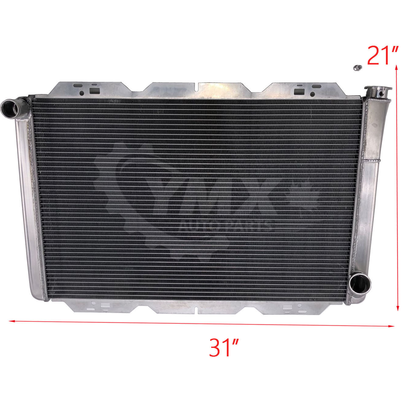 """Ford Mopar Style 19/""""x26/"""" Aluminum Universal Radiator Heavy Duty Extreme Cooling"""