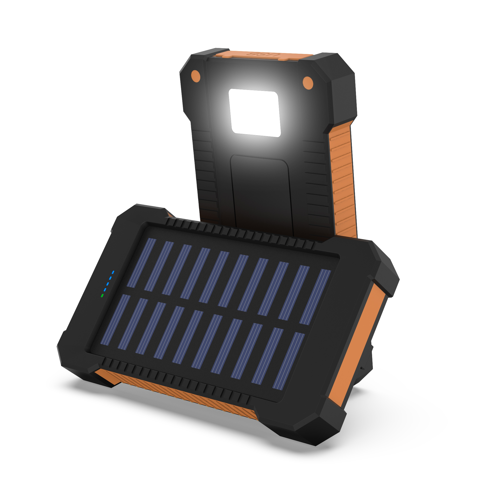Details about 300000/100000mAh Solar Power Bank Dual USB Portable Charger Battery Backup LED