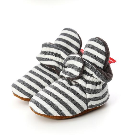 Baby Infant Prewalker Soft Sole Anti-slip Warm Shoes Toddler Cribs Slipper 0-18M