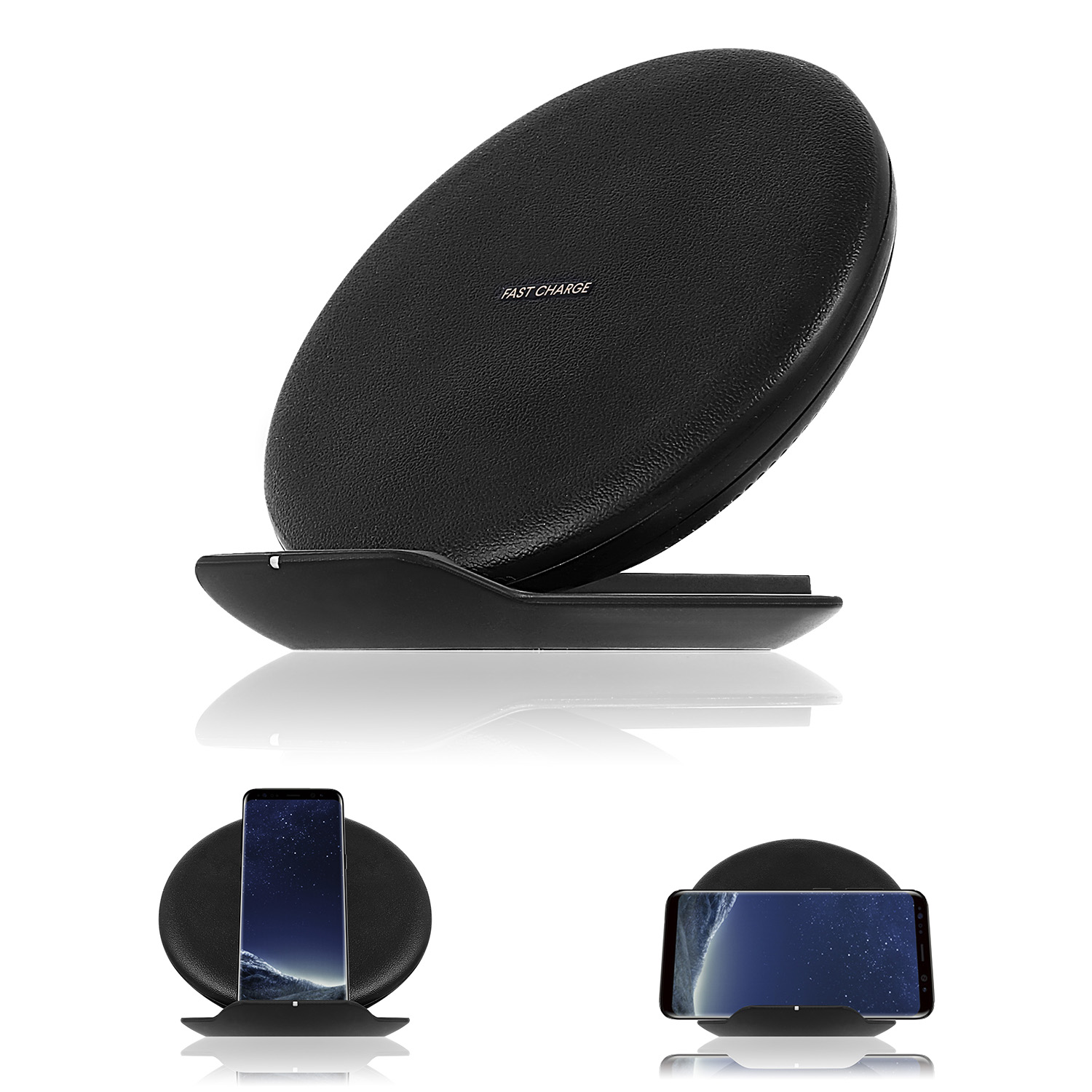 for samsung qi induktive ladestation wireless charger galaxy s6 s7 s8 note 8 ebay. Black Bedroom Furniture Sets. Home Design Ideas