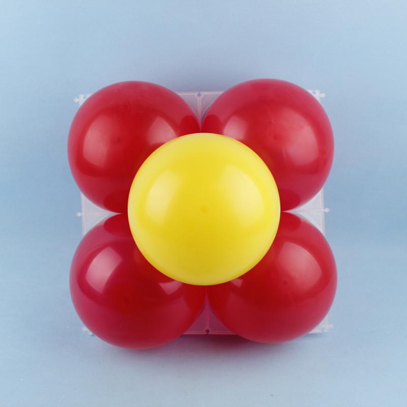 20pcs Plastic DIY Square 4 Hole Modeling Balloon Grid Wedding Party ...
