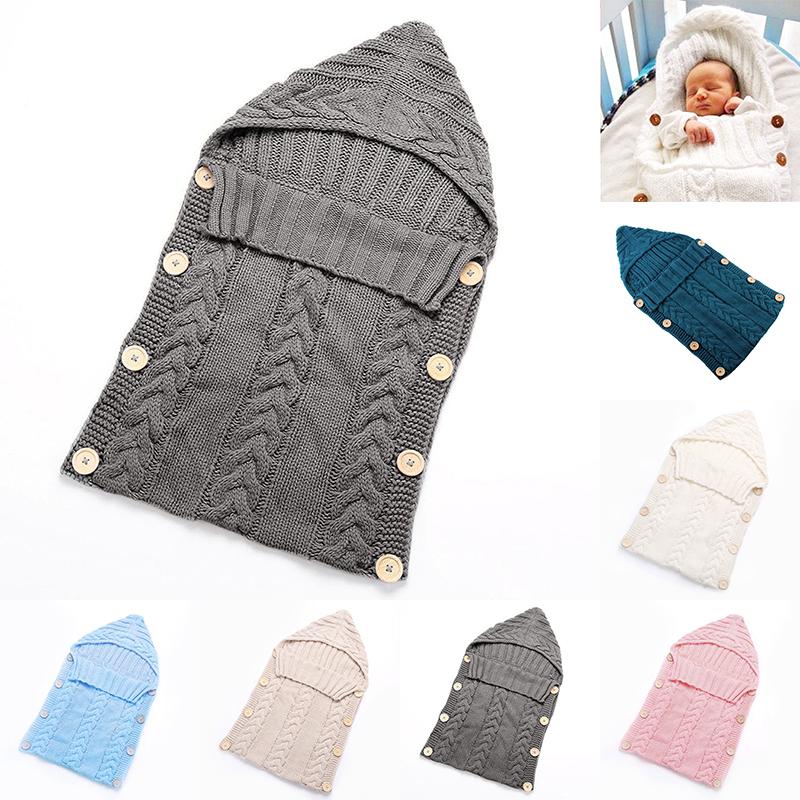Bebé Recién Nacido Punto Ganchillo Envuelto Encoltura Manta Warm ...
