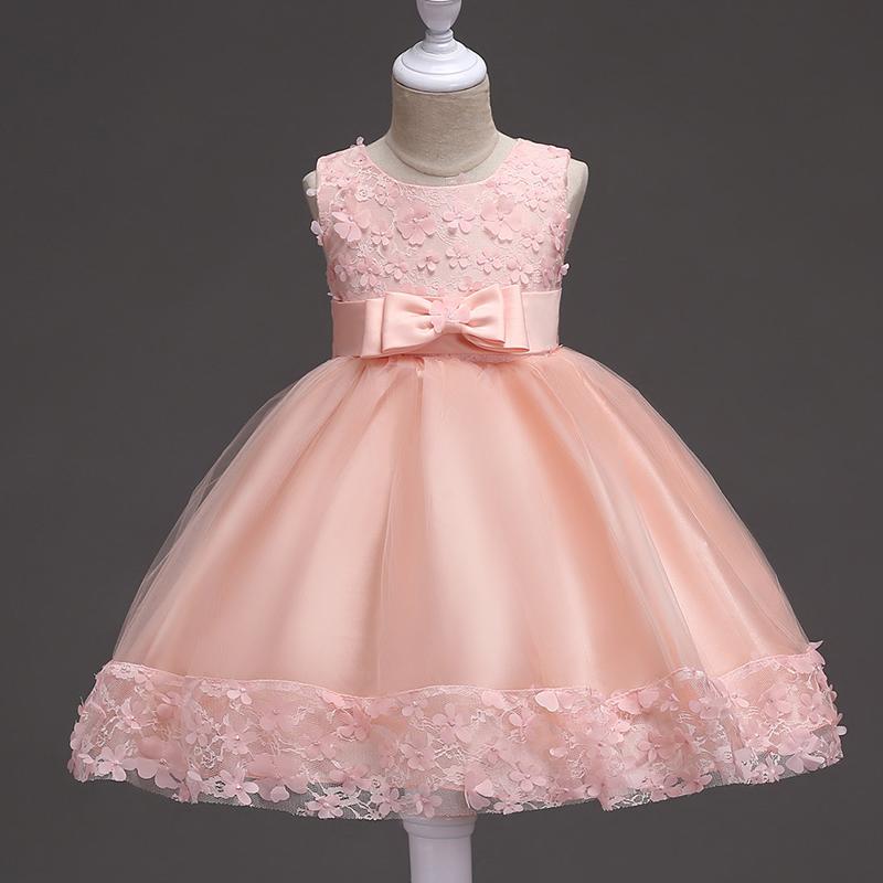 Vestido de niña con Flores Princesa Cumpleaños Fiesta De Niños ...