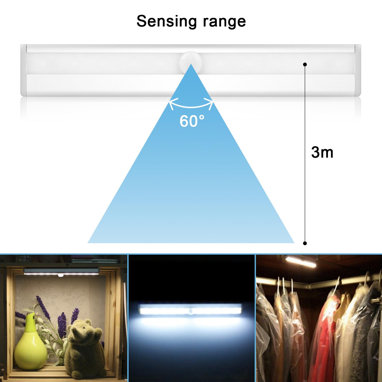 3er led unterbauleuchte mit batterie bewegungsmelder licht leiste k che schrank ebay. Black Bedroom Furniture Sets. Home Design Ideas