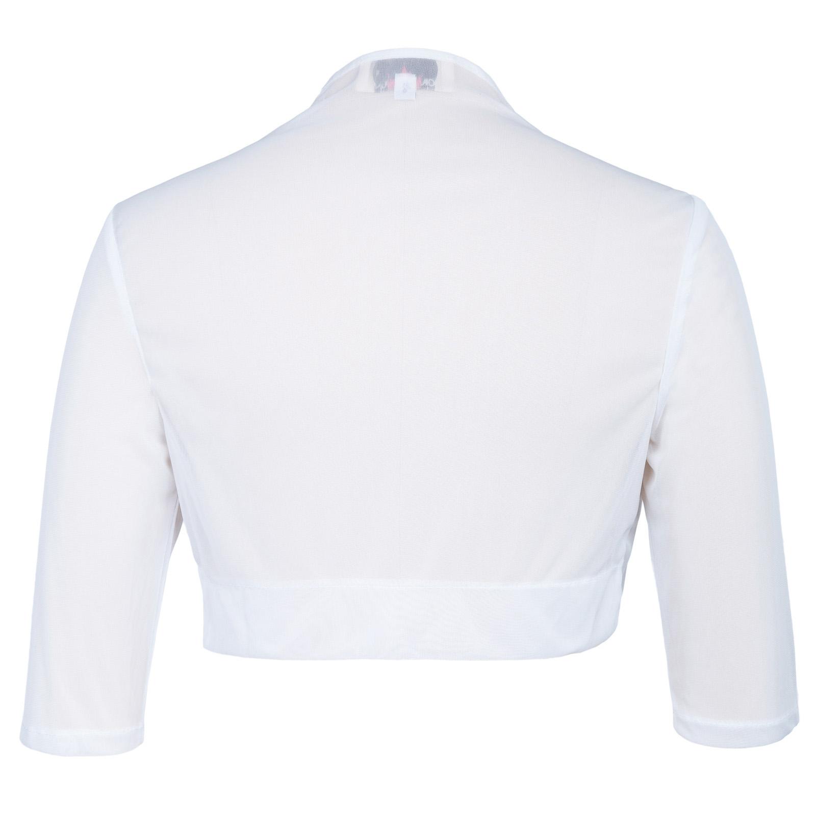 New Womens Short Sleeve Ladies Cropped Shrug Bolero Cardigan Top ...
