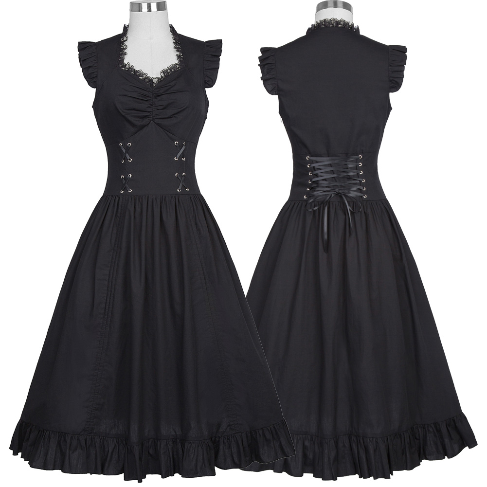 2019 year for girls- Victorian black dress photo