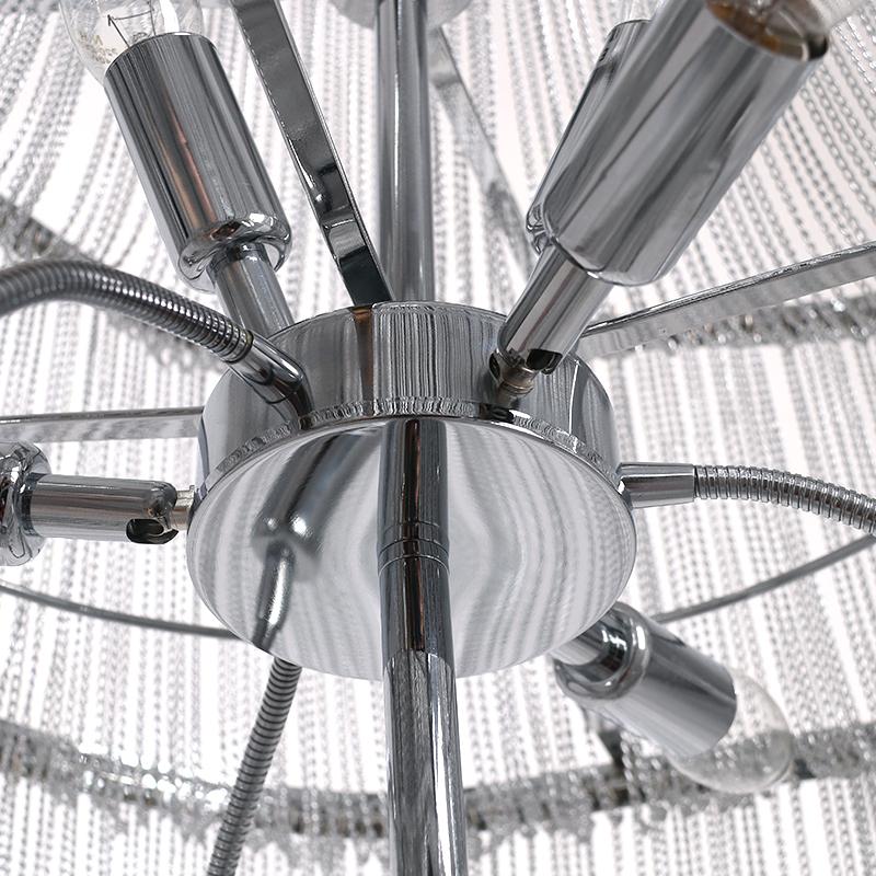 Modern Chandelier Chain: Modern Tassel Chandelier Aluminum Chain Pendant Light