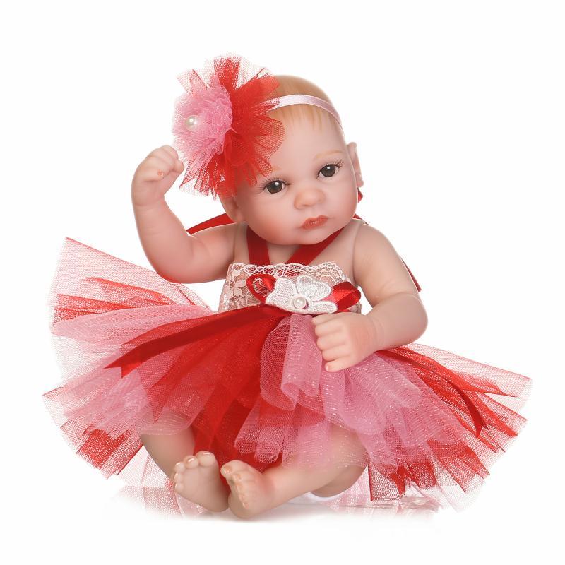 Pinky Sleeping 26cm Lifelike Reborn Baby Girl Doll Realistic Newborn Baby Dolls