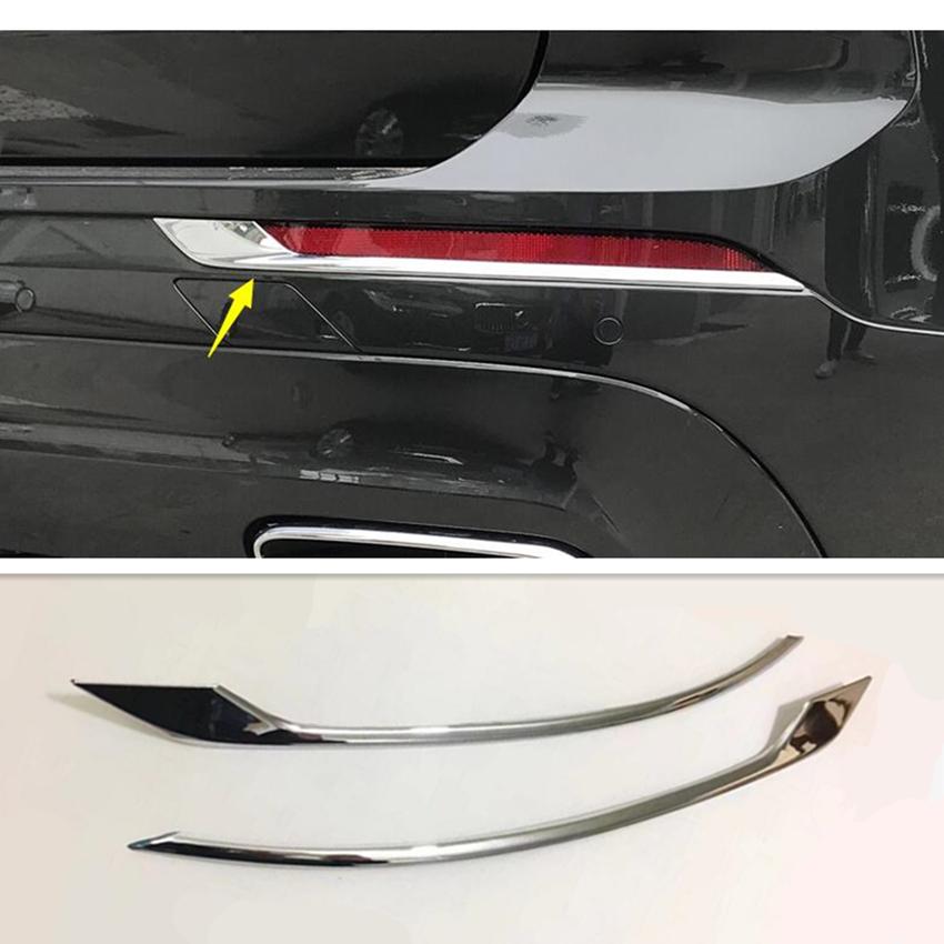 2pcs For 2018 2019 Volvo XC60 ABS Chrome Rear Fog Light Lamp Eyelid Cover Trim