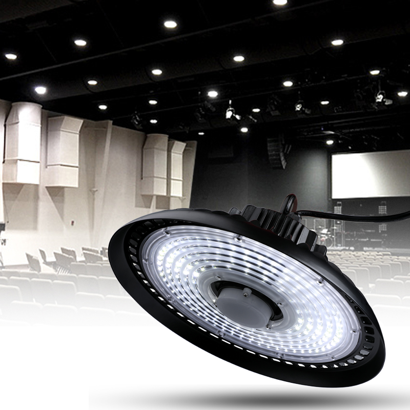 Details About 150w Ufo Led High Bay Lights Super Bright Factory Warehouse Gym Lighting
