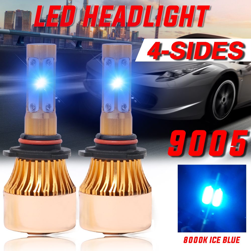 9005 HB3 Halogen Crystal Blue 8000K Headlight Bulb 100W High Beam only