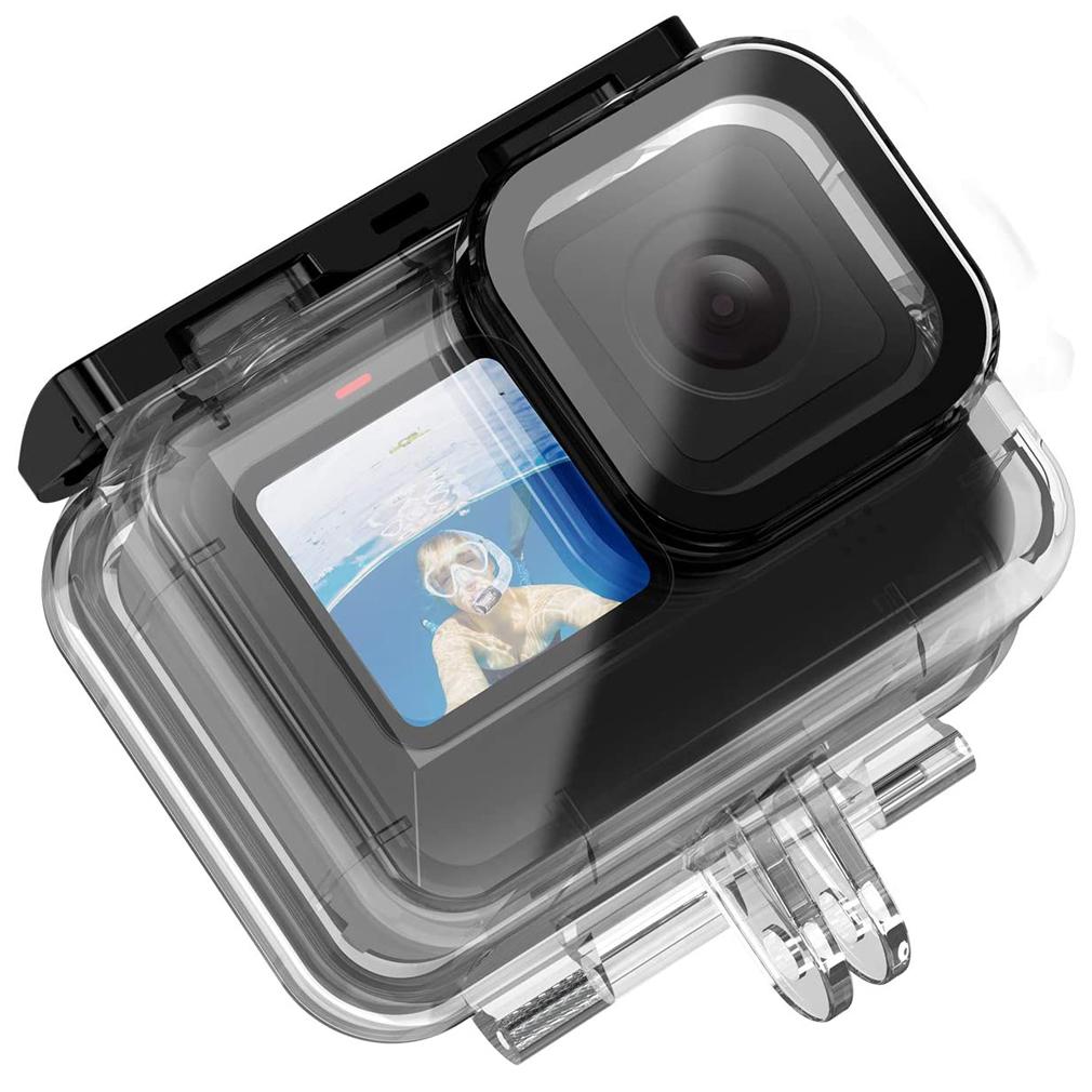 First2savv 60m Boitier de Protection Caisson Plong/ée Etanche pour Gopro Hero 9 Black Cam/éra daction Accessoires Kit **Version am/élior/ée**