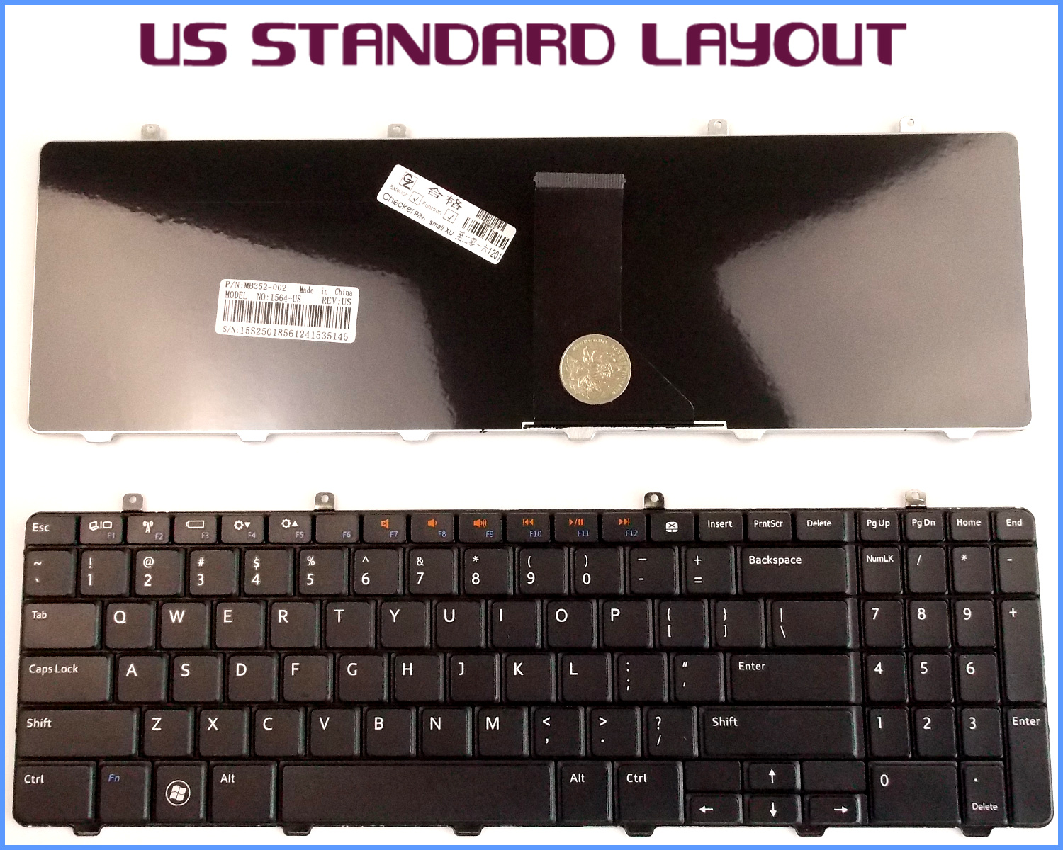New Laptop US Keyboard for Toshiba Satellite MP-09N13-698 MP-09M836920