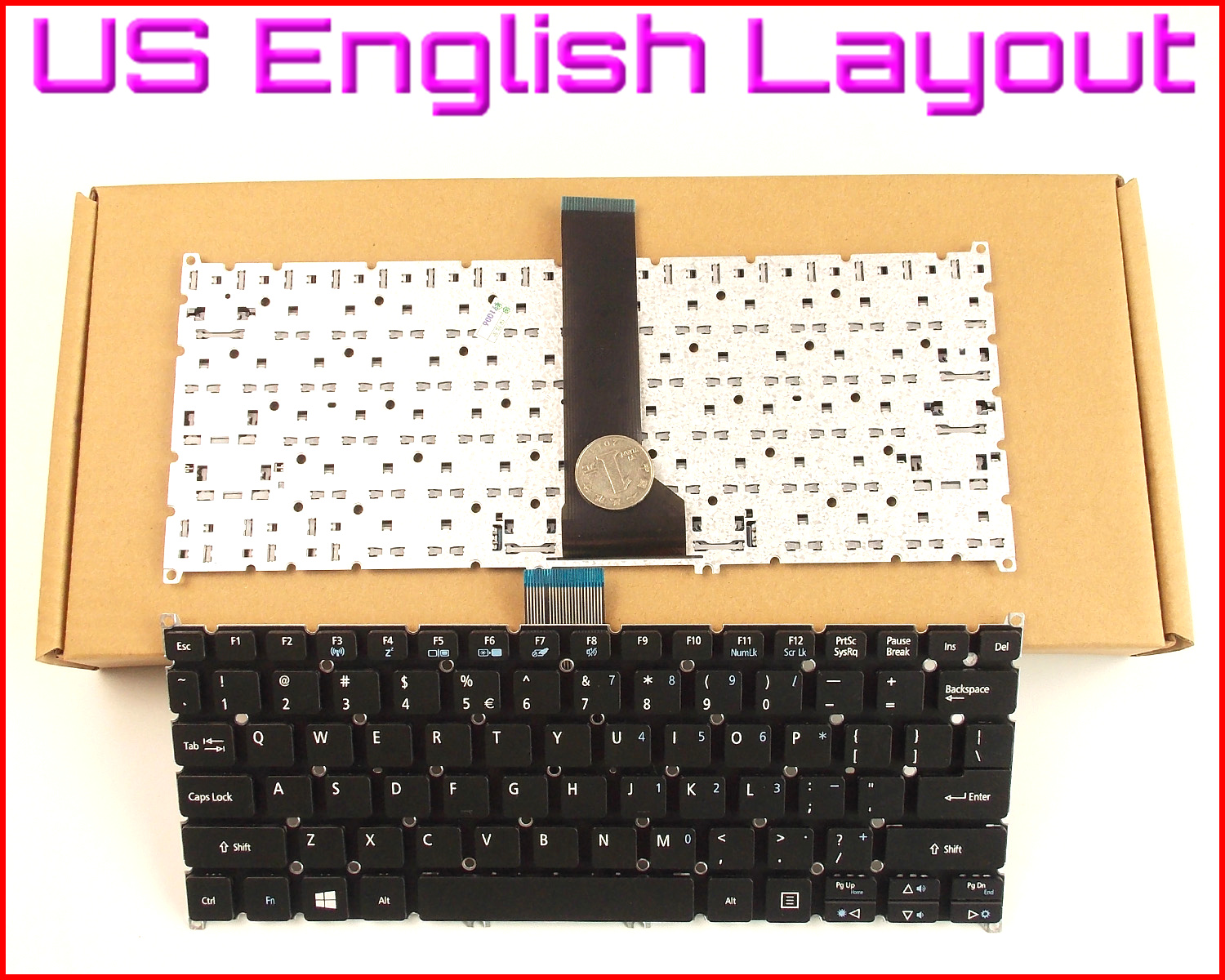 New Laptop Us Keyboard For Acer Aspire E11 E3 111 112 112m Es1 131