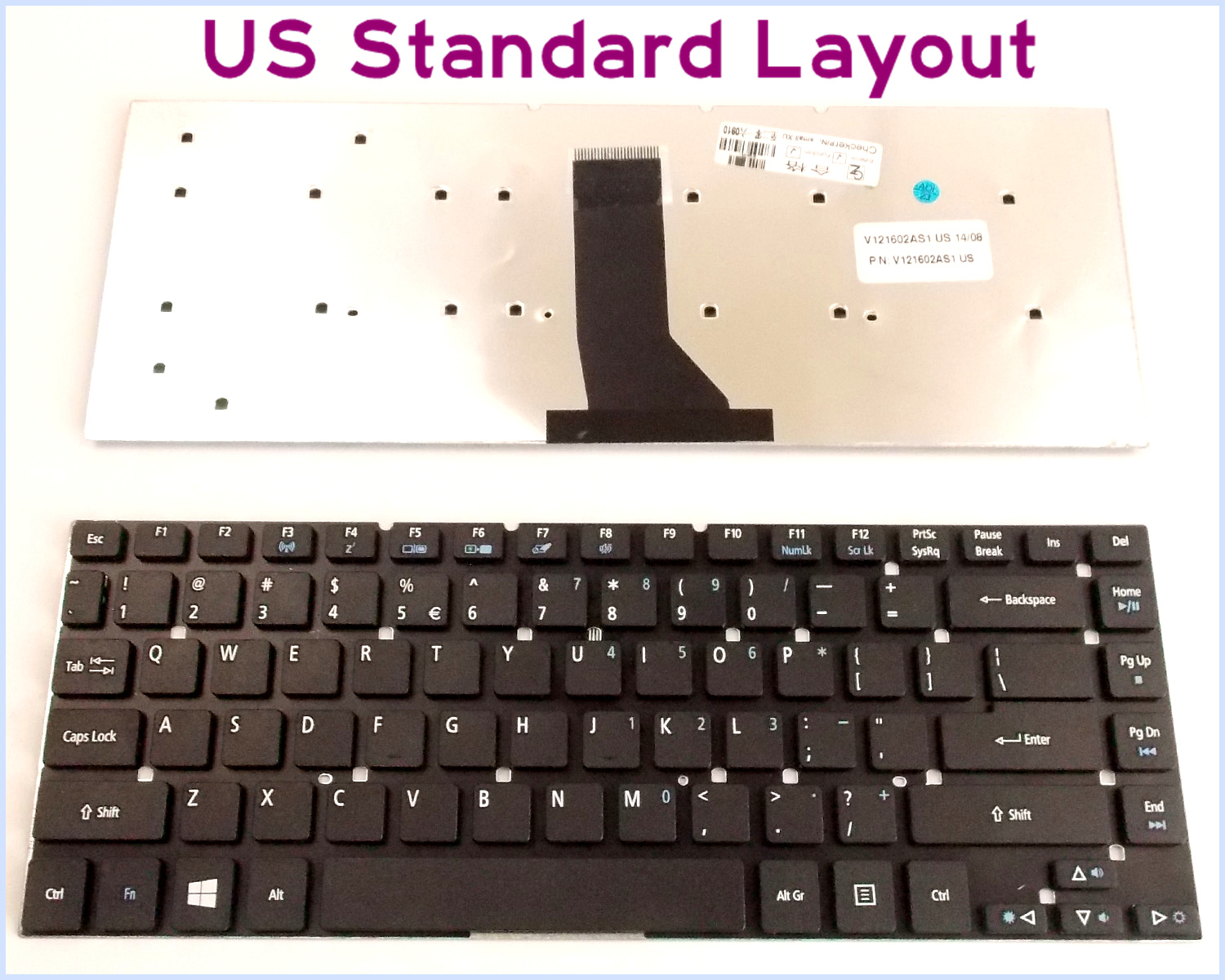 Details about New Laptop US Keyboard for Acer Aspire PK130IO1C00 US Layout  Black