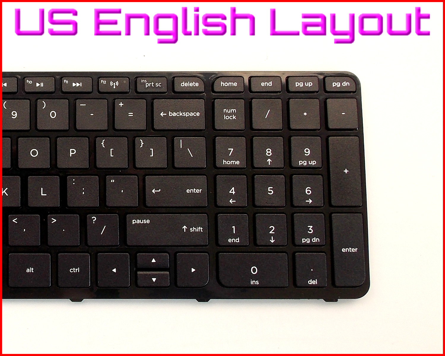New Laptop US Keyboard For HP Pavilion 15-f009ca 15-f008cl 15-e020ax With Frame