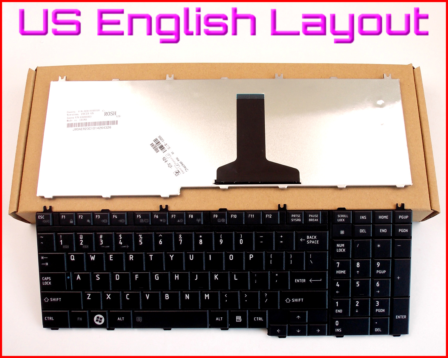 New Laptop US Keyboard for Toshiba SATELLITE L505-S5990 L505-S5988