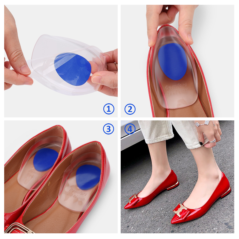 1//2//5//10 Pair High Heel Silicone Gel Cushion Insoles Pad Feet Shoe Foot Care JKC