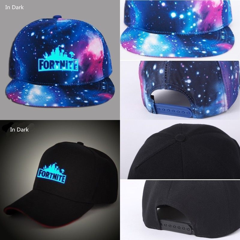 4e36d17f97a Fortnite Baseball Cap Boys Girls Outdoor Sports Adjustable Hat Logo Glow In  Dark