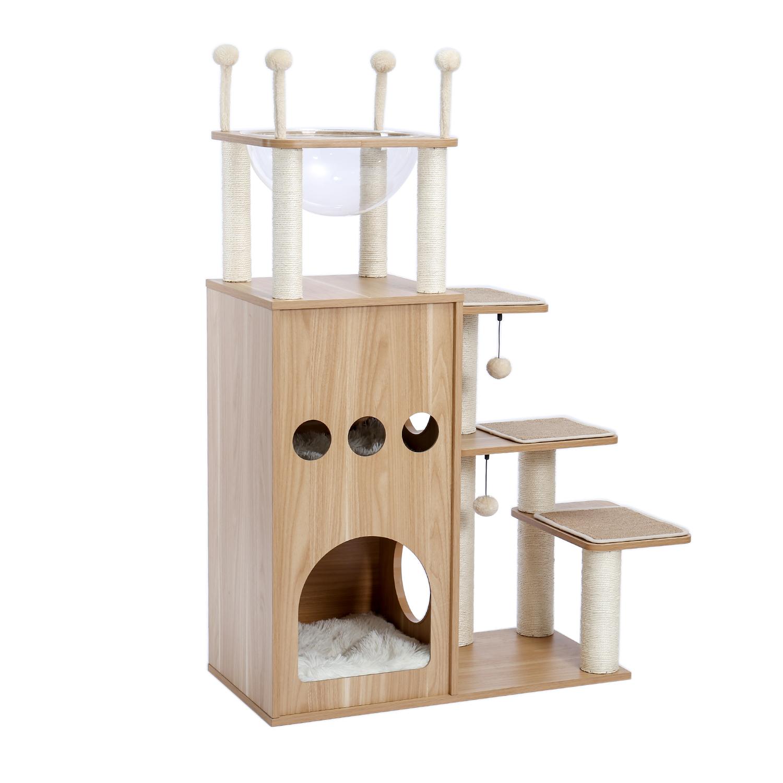 Cat Tree Scratching Post Climbing Tower Activity Center Condo Modern Furniture Ebay