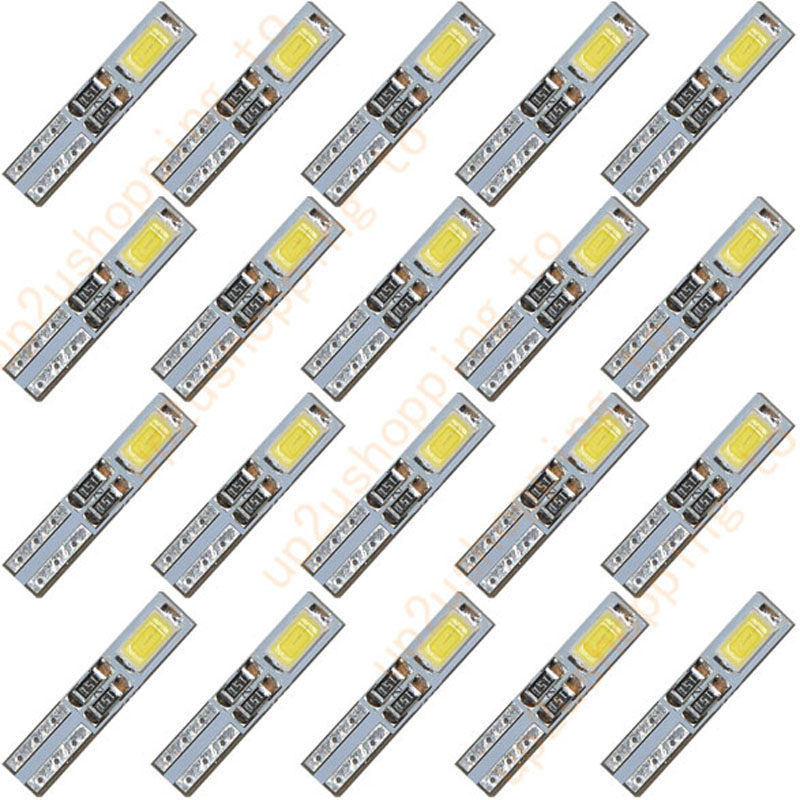 10 x T5 12V 2-5630-SMD LED White Dashboard Gauge Light Car Signal bulbs mini