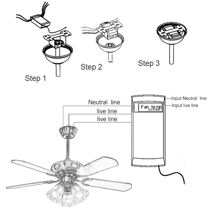 universal can be timing wireless intelligent ceiling fan lamp remote control 705353287053