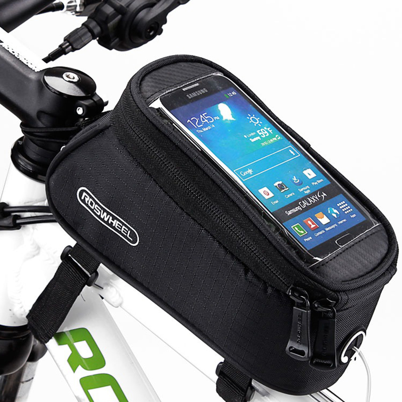 Bicycle Cycling Bike Front Top Frame Pannier Tube Bag Case Pouch for Cell Phone
