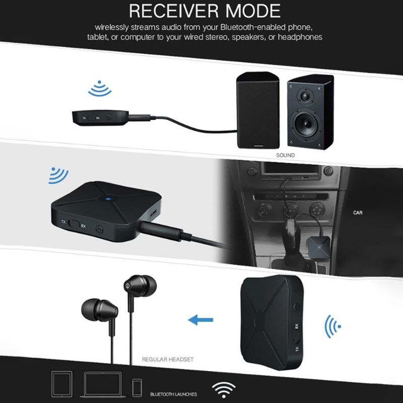 3.5mmTV//Music AUX Audio Transmitter 2in1 Wireless USB 4.2 Bluetooth Receiver
